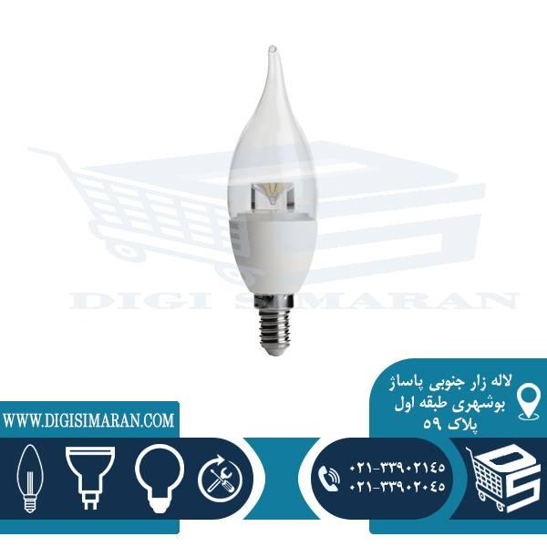 لامپ شمعی اشکی شفاف