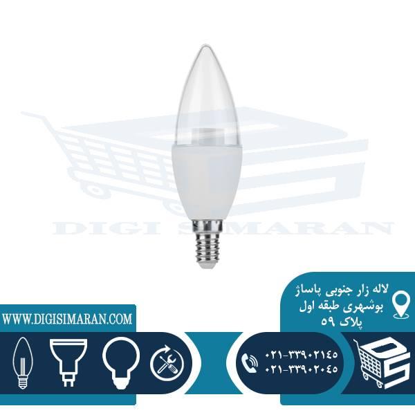 لامپ شمعی ساده شفاف